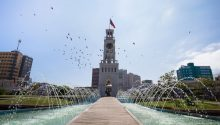 reloj en el centro de la ciudad de Iquique