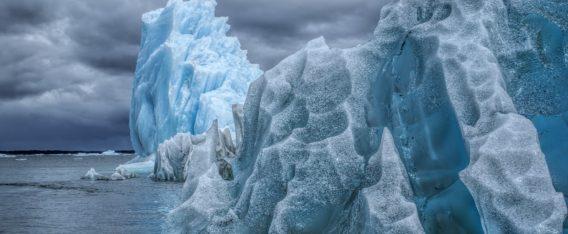 Glaciar San Rafael en la región de Aysén