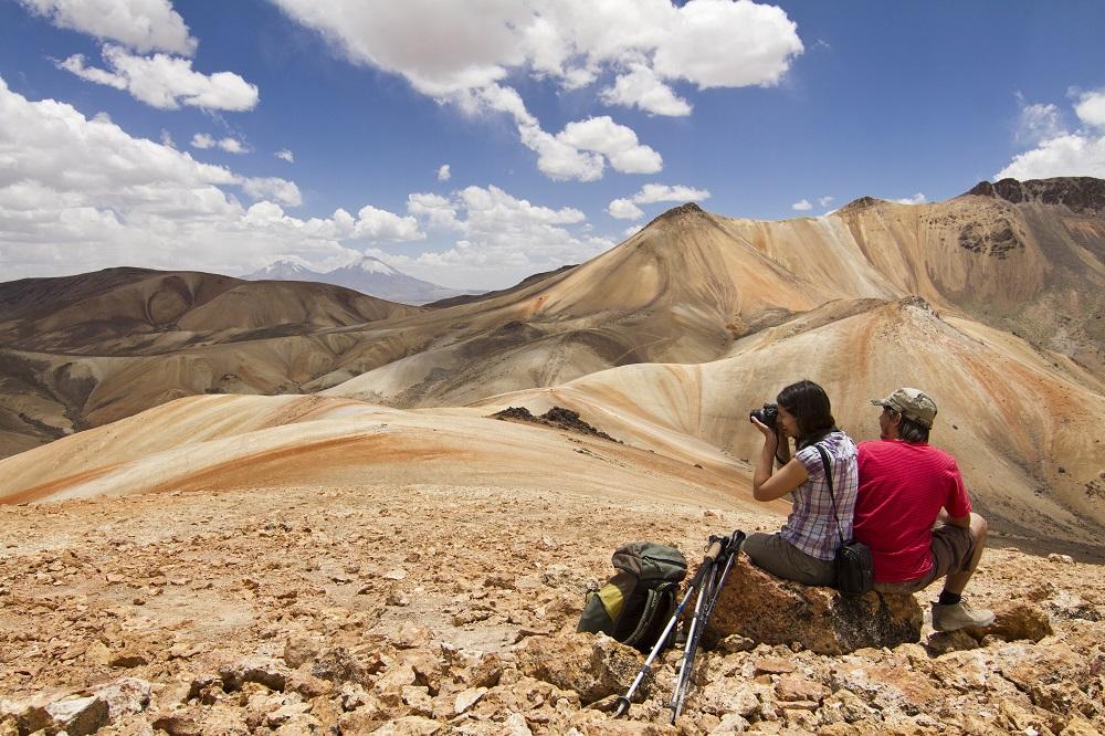 Paisaje para ver los pueblos del altiplano chileno