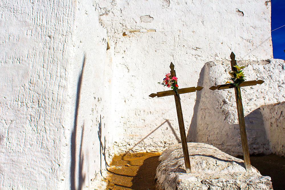 cementerio en los pueblos andinos del Desierto de Atacama