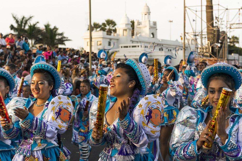 Eventos de verano en Chile: Carnaval con la Fuerza del Sol en Arica.