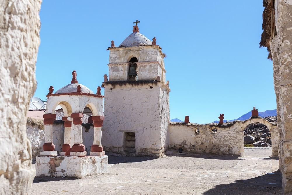 Parinacota, uno de los pueblos del altiplano chileno