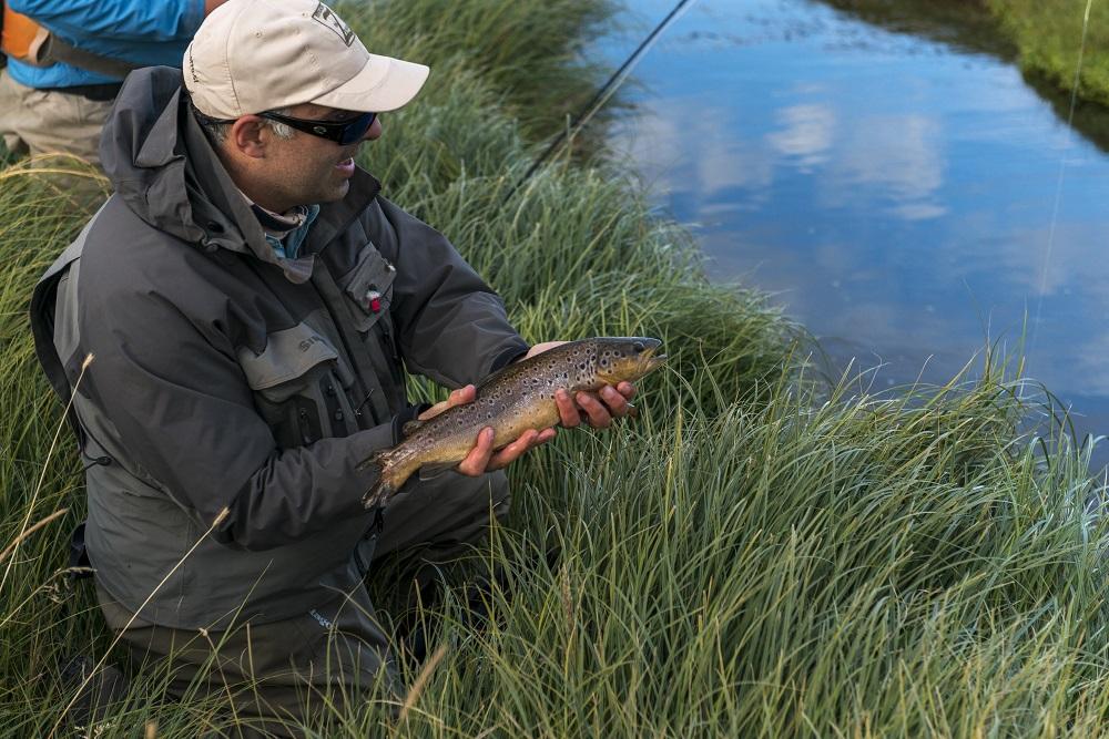 pesca con mosca en las Estancias de la Patagonia
