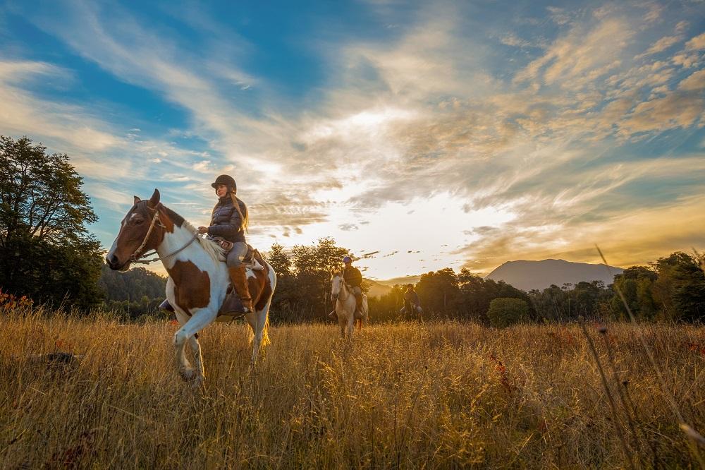 Cabalgatas en los 7 días de la Araucanía andina