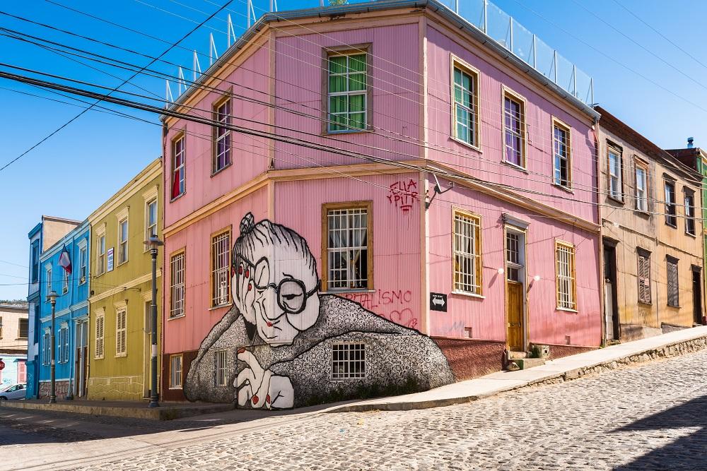 Pinturas en la Ruta del Street Art en Valparaíso