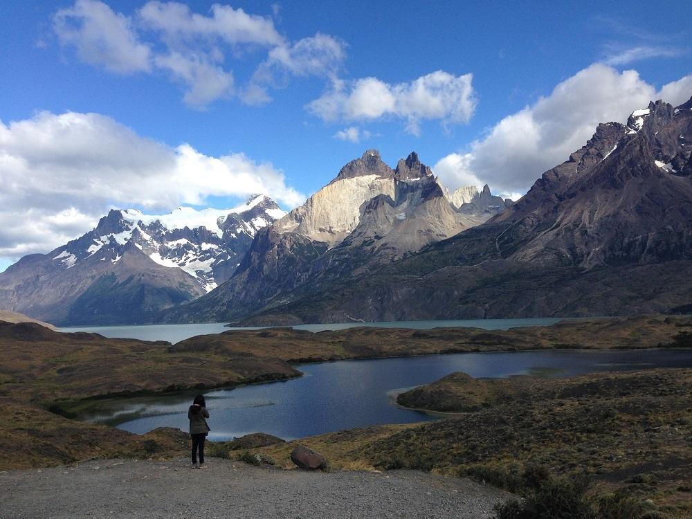 Hermosa vista de los cuernos de las Torres del Paine