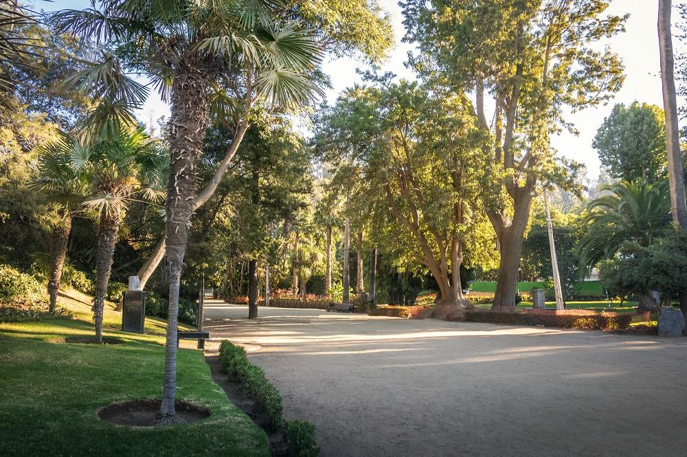 jardines en el parque Quinta Vergara en Viña del Mar