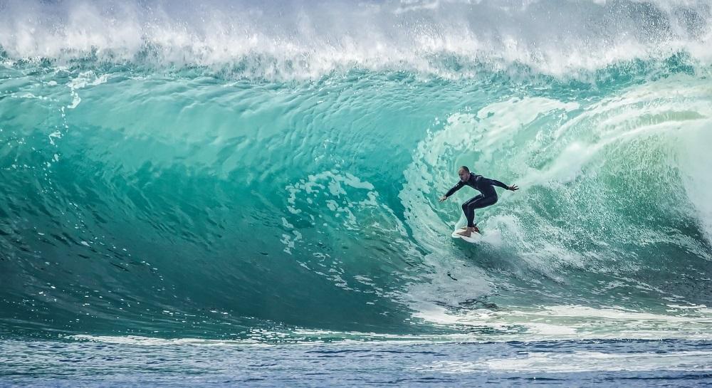 Olas perfectas para la practica del surf