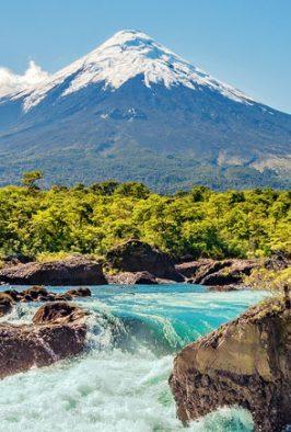 Imagen de un caudaloso río de la cuidad de Osorno