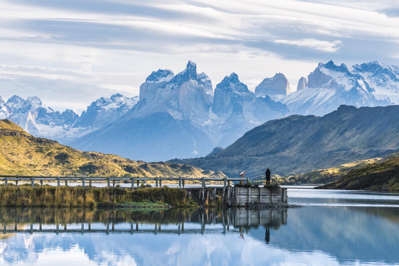 Imagen de Perico trepa por Chile - torres del paine