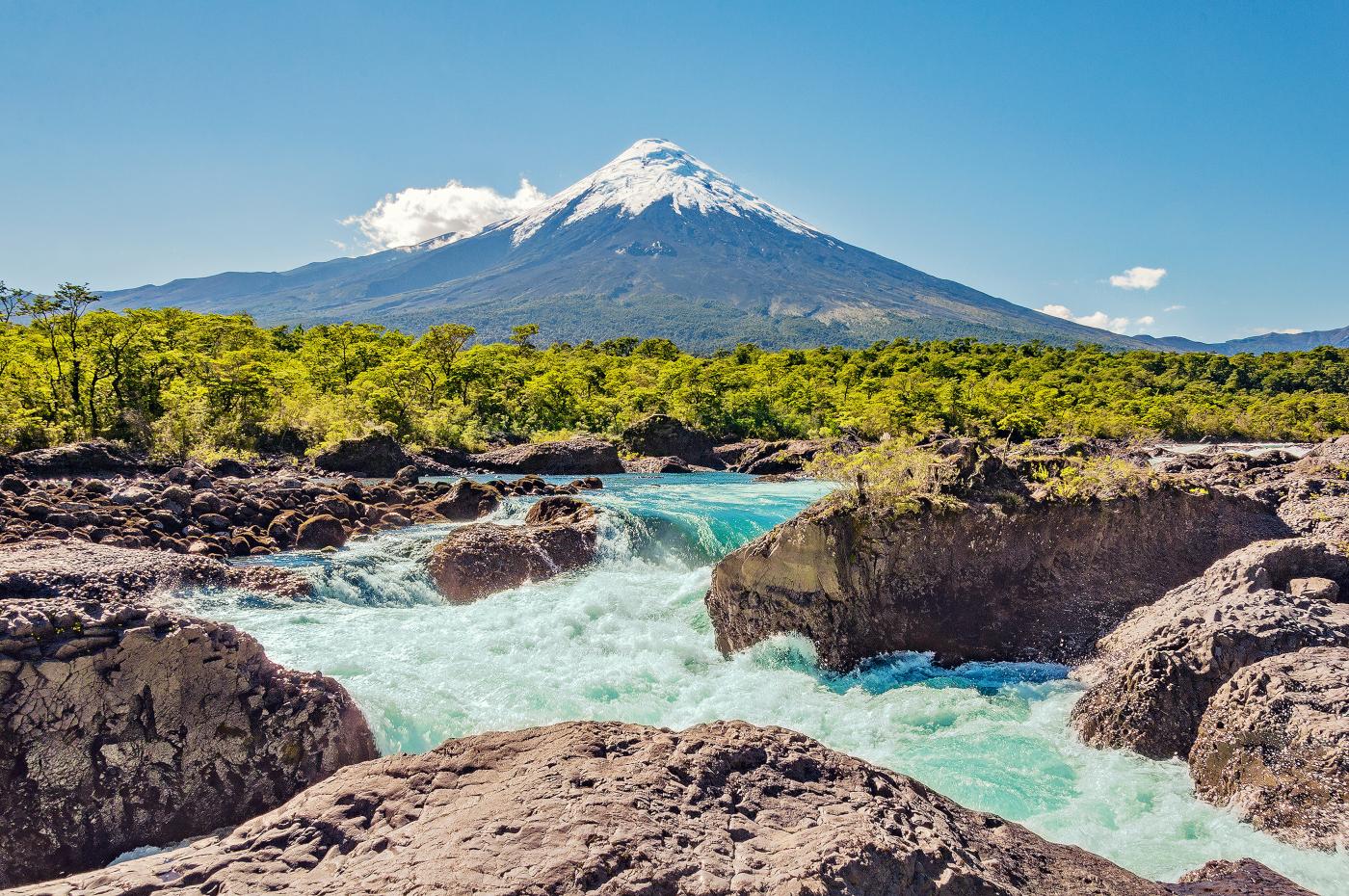 Imagen del volcan Osorno