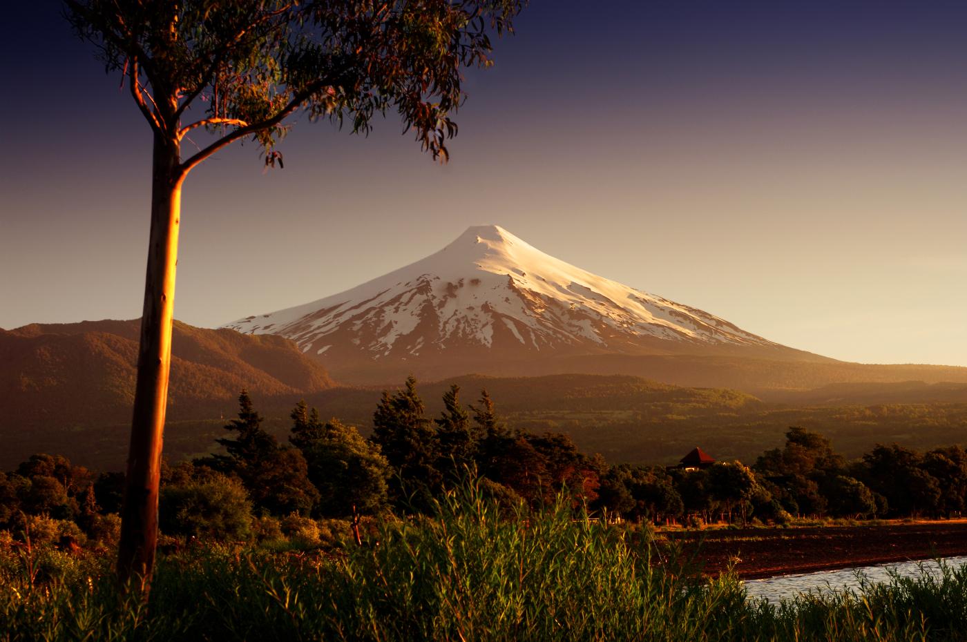 Imagen del volcán Villarrica