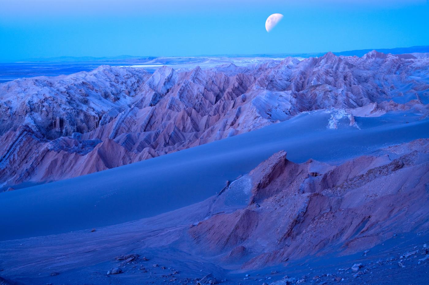 Imagen del Valle de la Luna en el desierto de Atacama