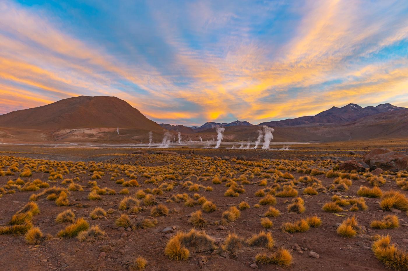 Imagen de los géiser el Tatio, desierto de Atacama
