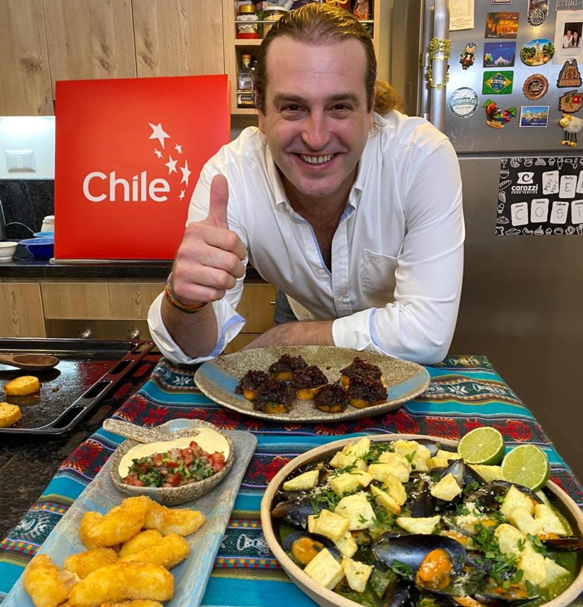 Imagen del chef chileno Mikel Zulueta