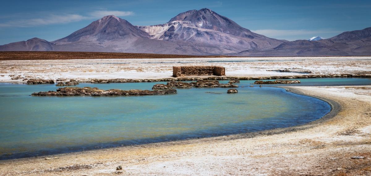 Imagen del salar de surire en el norte de Chile