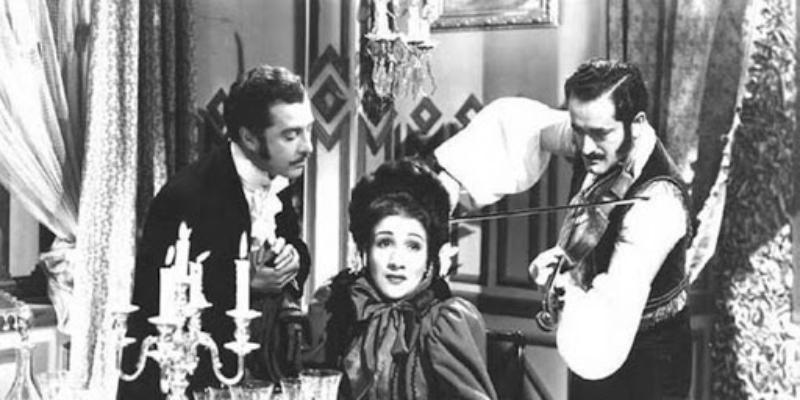 Imagen de una antigua película chilena