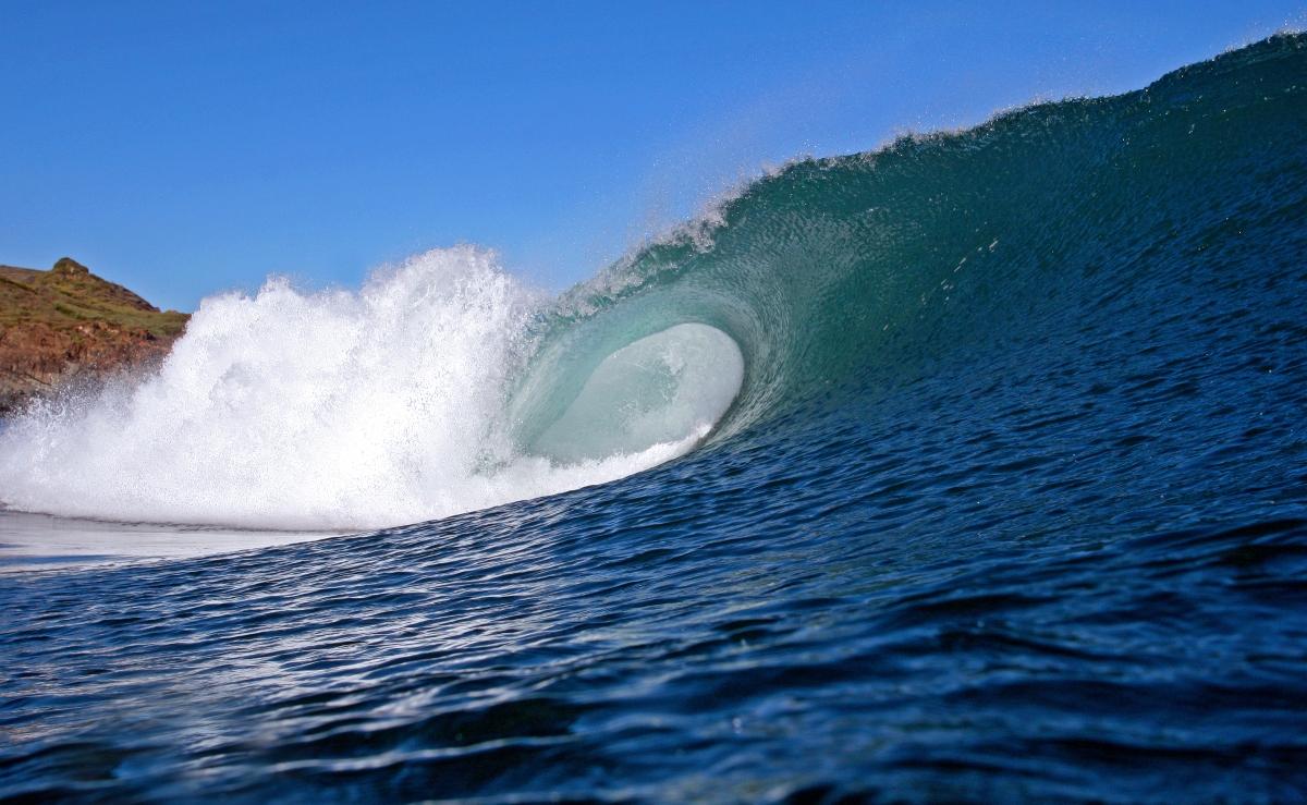 Imagen de una ola en espiral