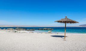 Imagen de una playa solitaria