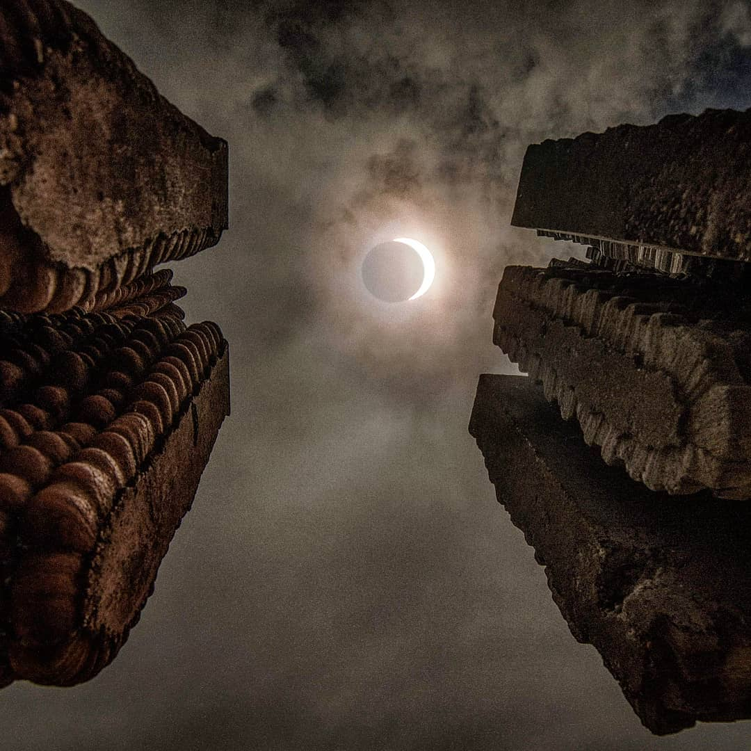 Imagen del Eclipse en Biobío