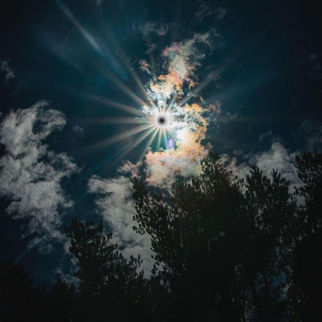 Imagen del eclipse en Lican Ray