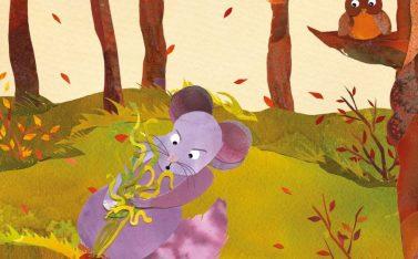 Ilustración de un ratón de la actividad Sábado de Cuentos