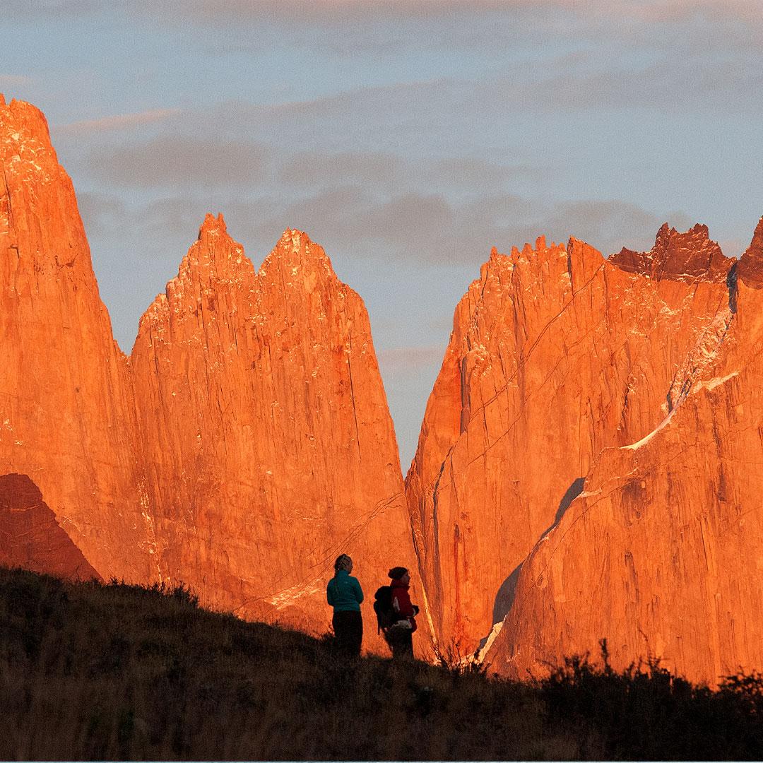 Circuitos en Torres del Paine Atardecer sobre el Macizo