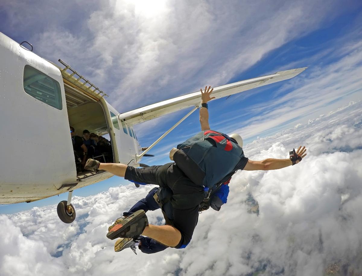 Deportes de viento- paracaidas en Chile