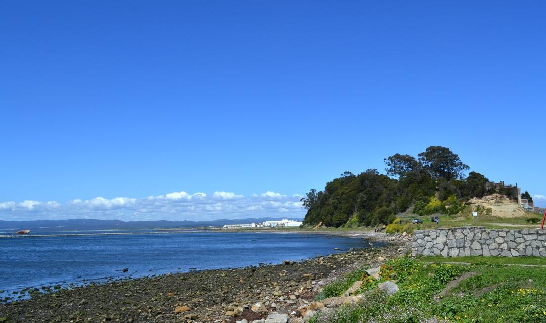 fotografía de la costa de talcahuano en biobio