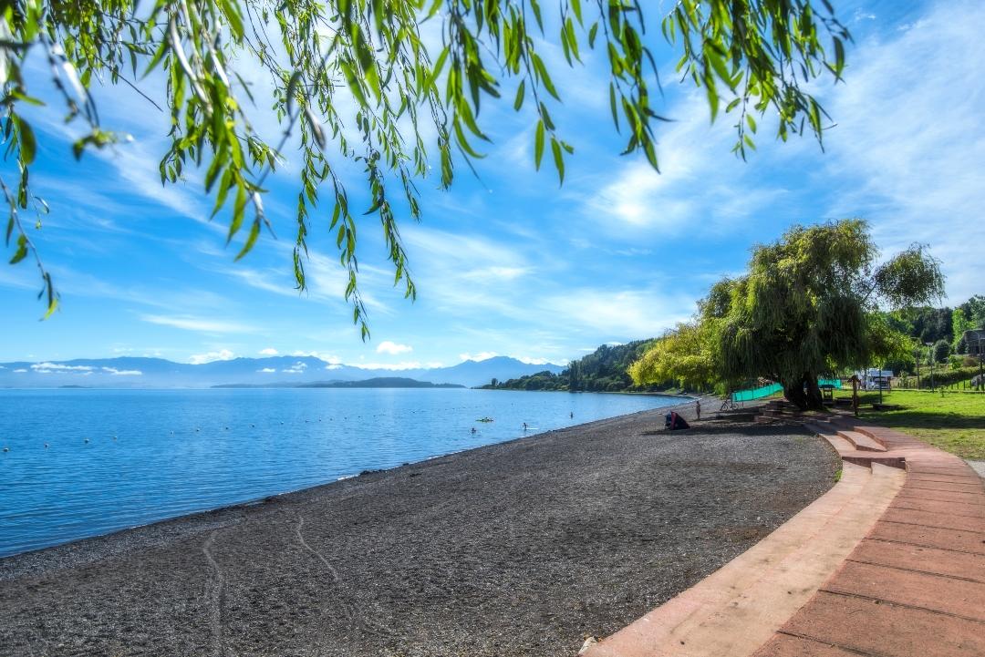 Vista panorámica al Lago Ranco